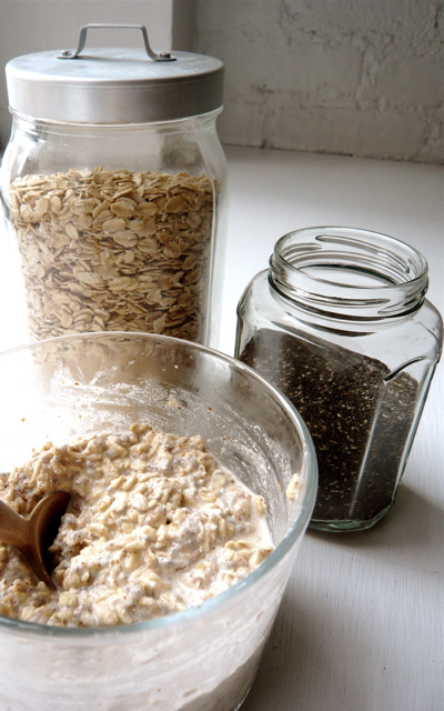 oats and chia seeds