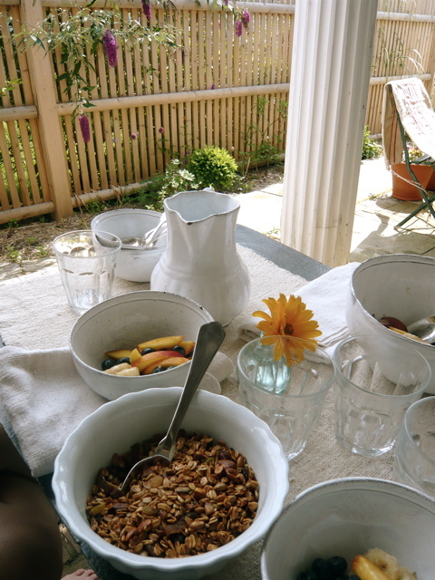 breakfast table