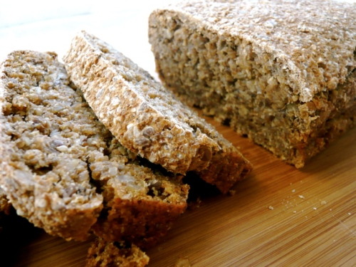 sprouted spelt bread with seeds