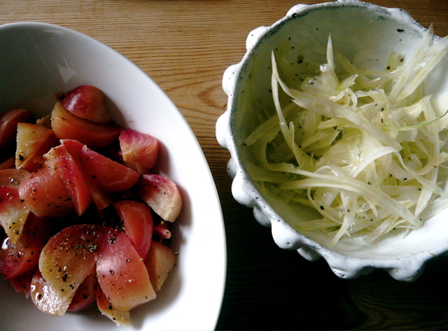 marinated beets & shaved fennel