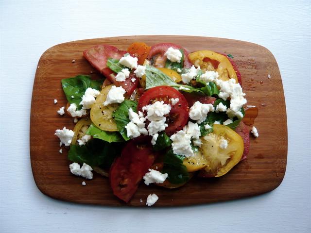 tomatoes, basil & fetta