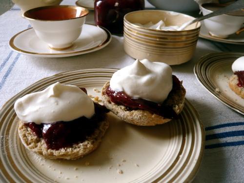 scones with bonnie's plum jam