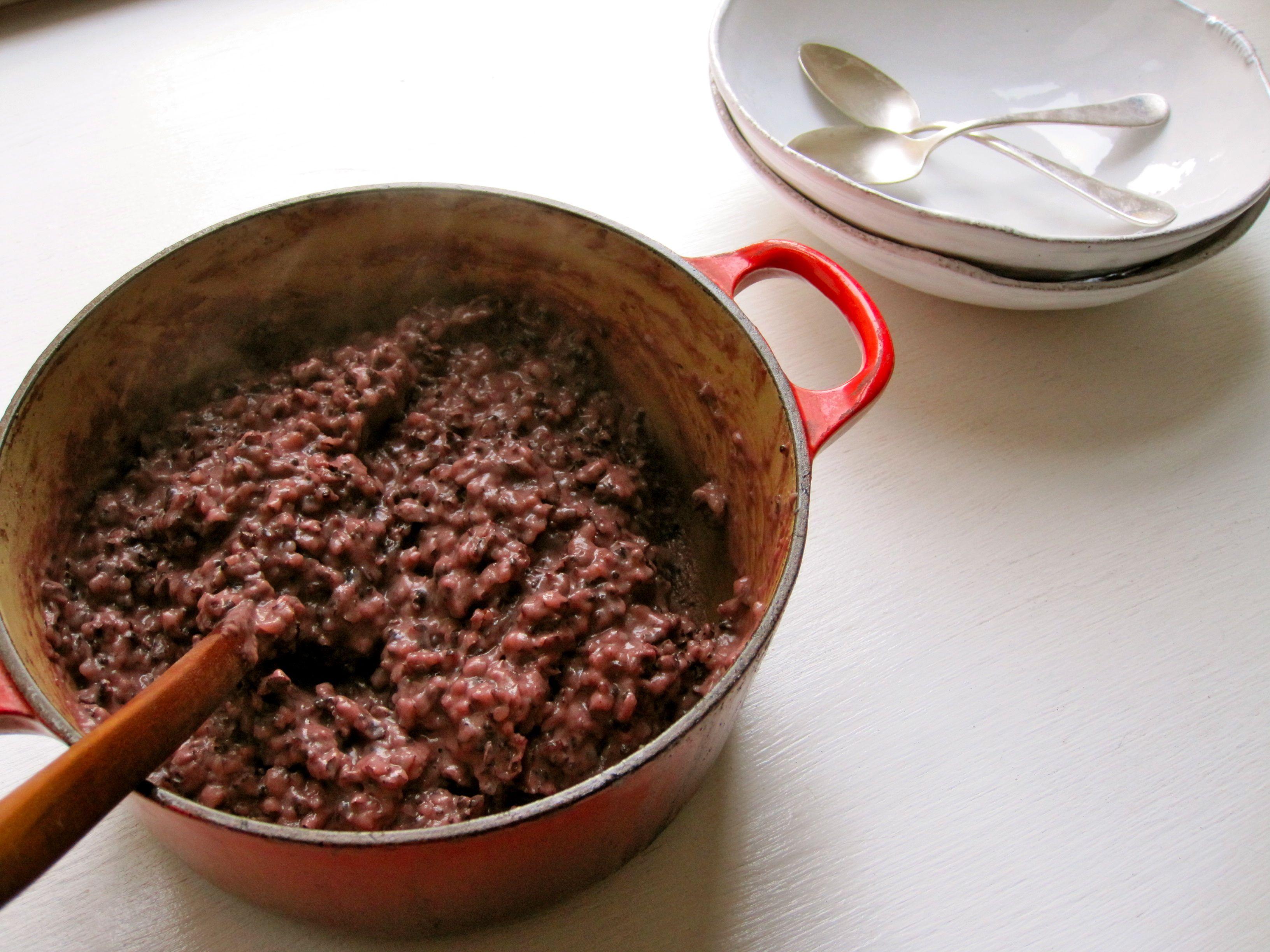 Black rice porridge with coconut - Amy Chaplin